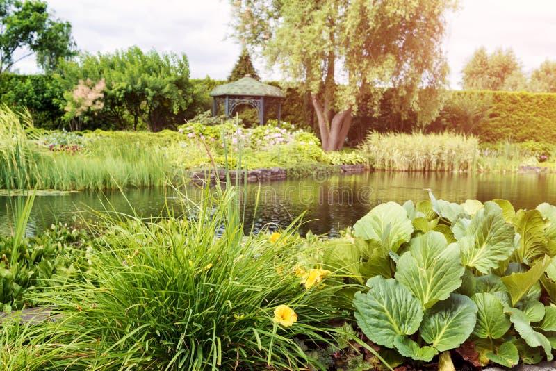 Z jeziorem miasto park zdjęcia stock