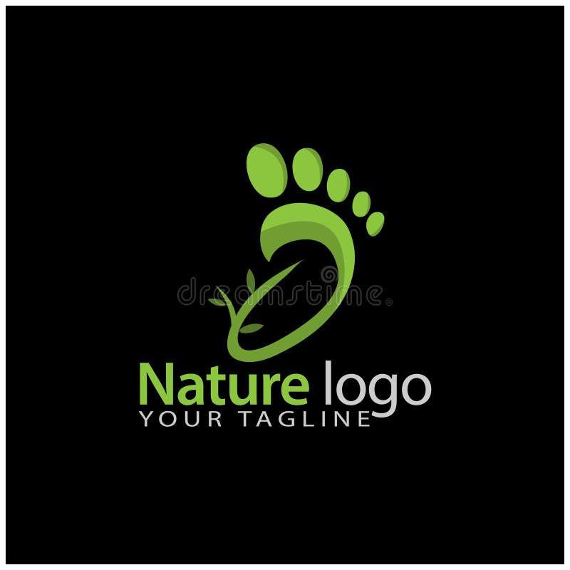 Nature foot logo template, stock logo template stock illustration