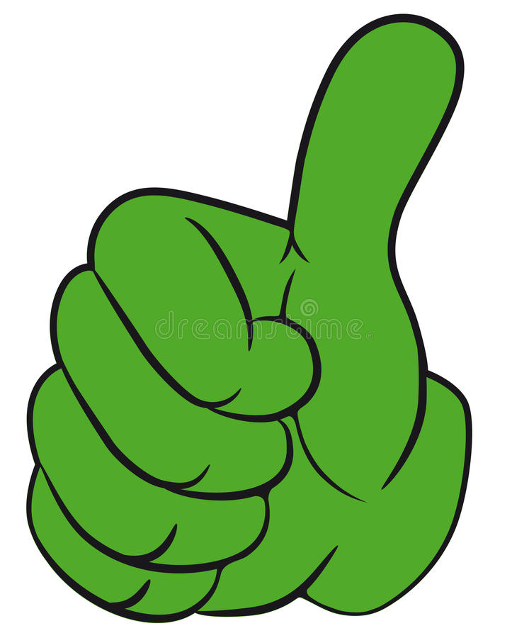 Z kciukiem kciuk ręka gest. royalty ilustracja