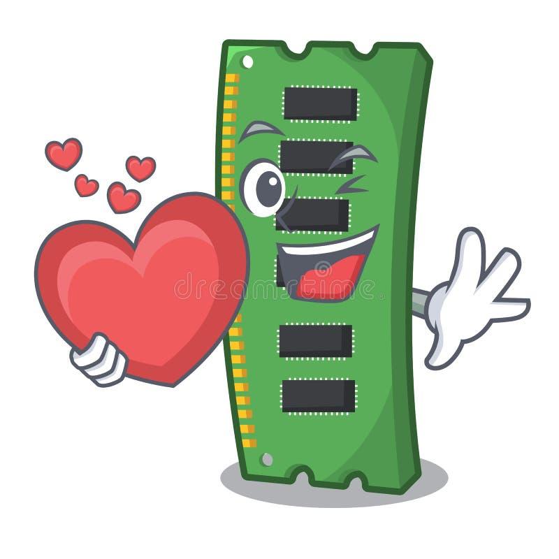 Z kierową RAM kartą pamięci w peceta charakterze royalty ilustracja
