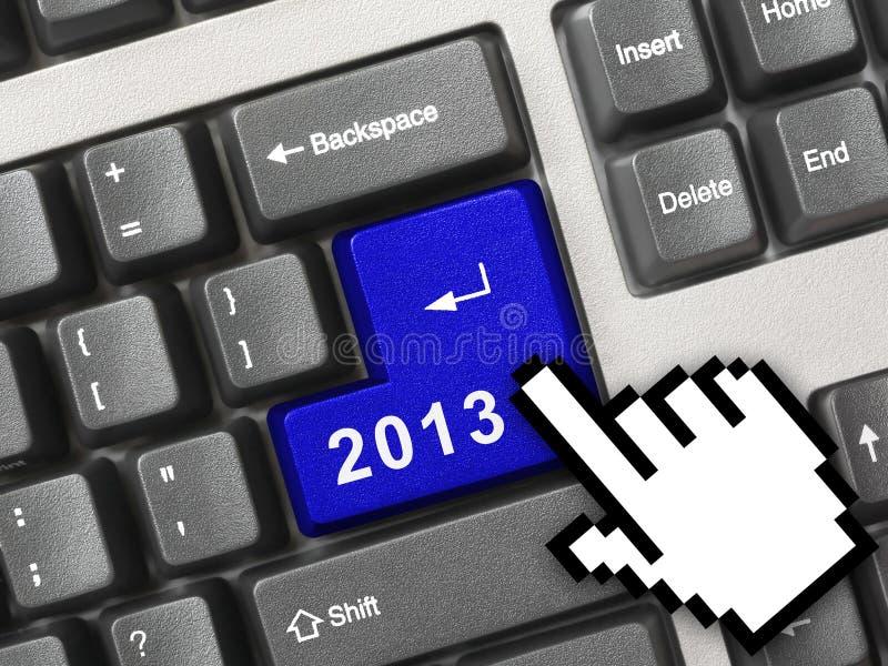 Z kluczem komputerowa klawiatura 2013 zdjęcia stock