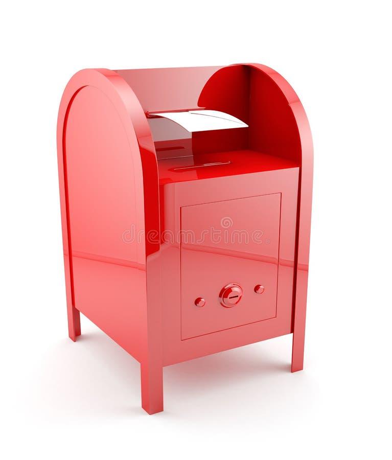 Z kopertą czerwona skrzynka pocztowa royalty ilustracja