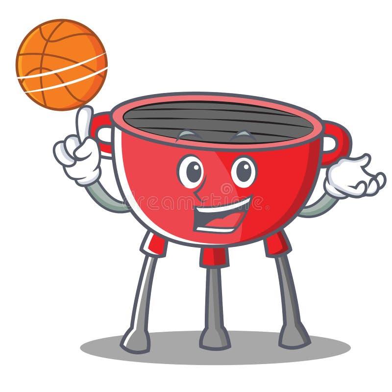 Z koszykówka grilla grilla postać z kreskówki ilustracji