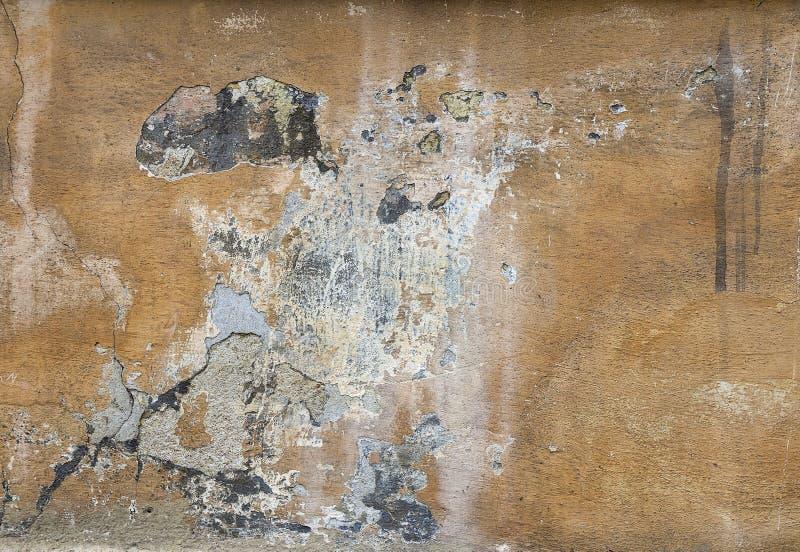 Z krakingowym stiukiem stara ściana tło tekstury stara ceglana ściana zdjęcia royalty free