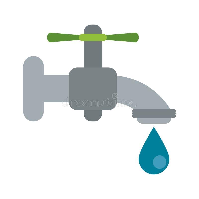 Z kroplą wodny faucet royalty ilustracja