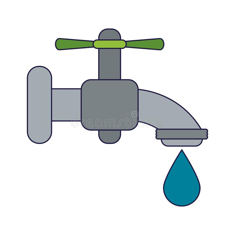 Z kroplą wodny faucet ilustracja wektor