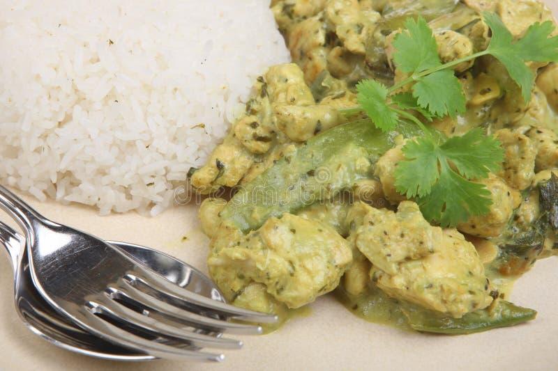 Z Kurczakiem tajlandzki Zielony Curry fotografia royalty free