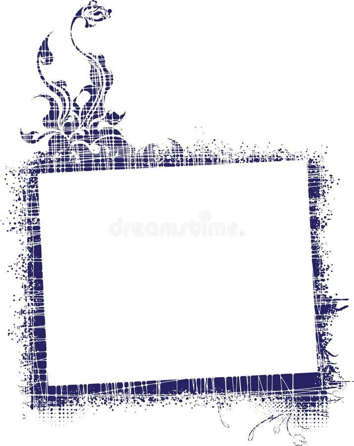 Z Kwiatem Grunge Rama ilustracji