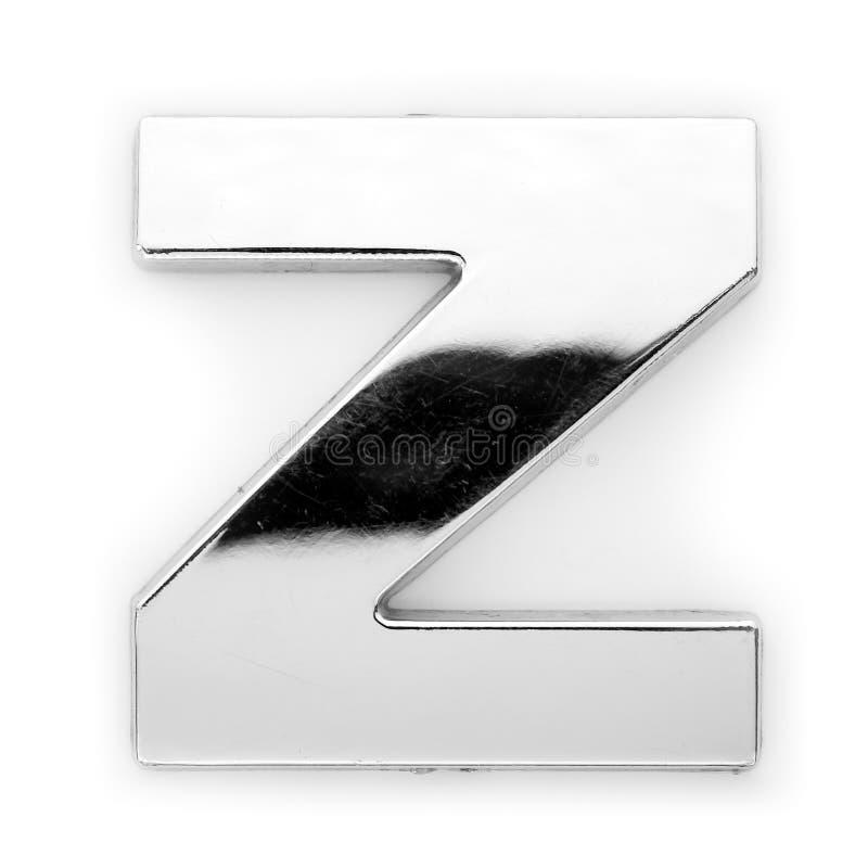 Z - Letra do metal imagem de stock