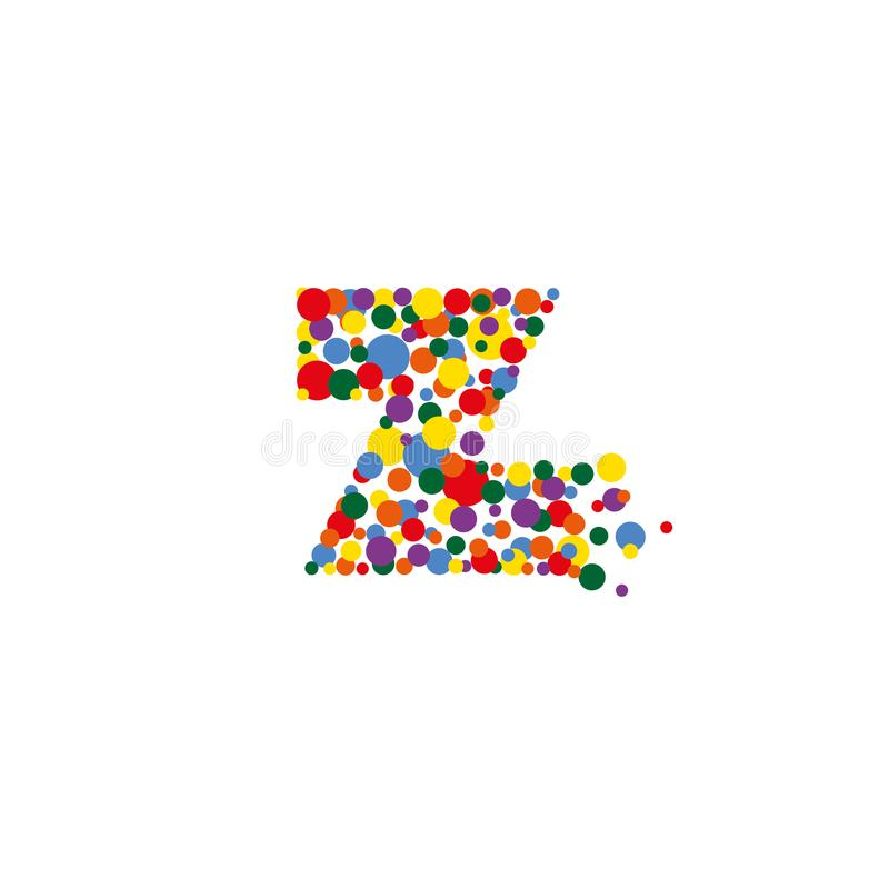 Z-letter from colored bubbles. Bubbles design. stock photos