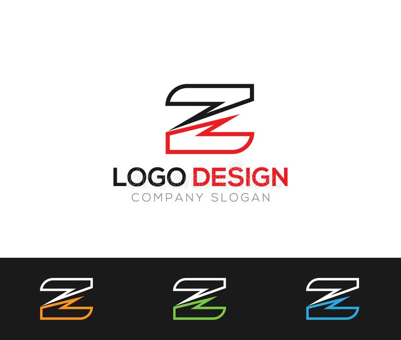 Z letter Logo Template online store vectors illustration. This is very easy to use. U ca Use as your won simply stock illustration