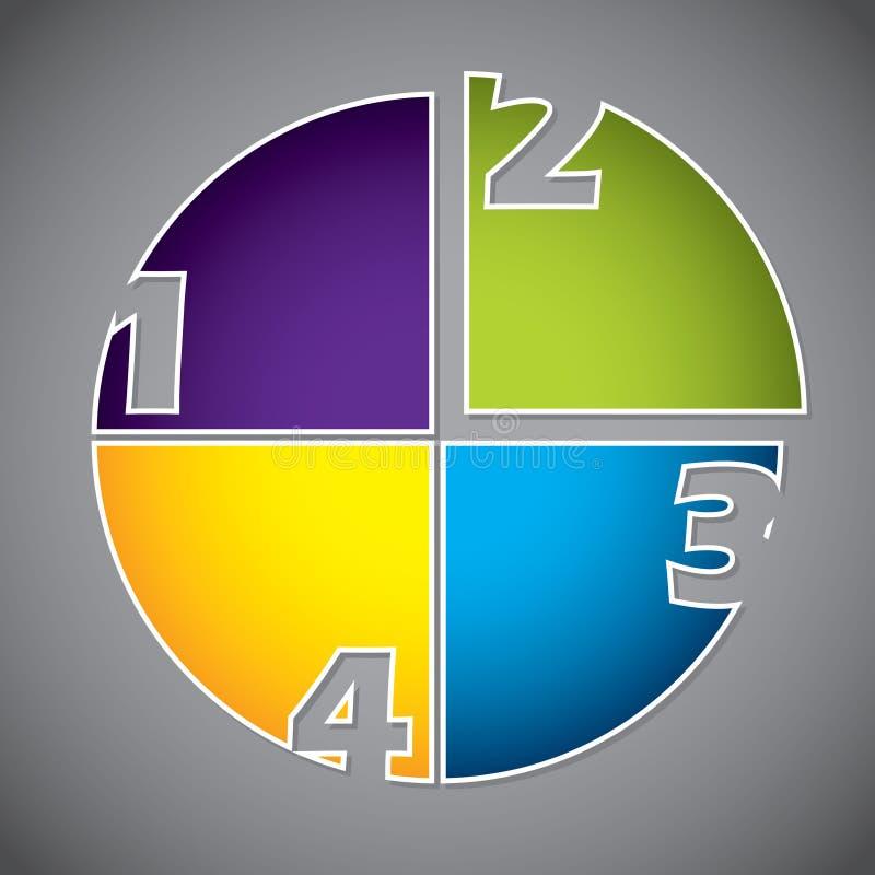 Z liczbami diagrama kolorowy projekt royalty ilustracja