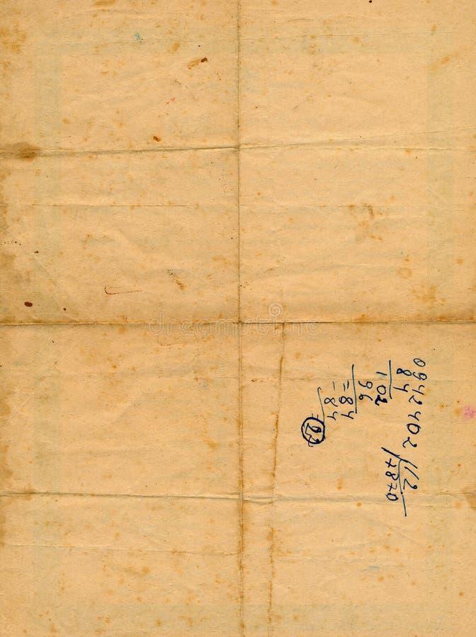Z liczby tłem antyczny starzejący się papier zdjęcie stock