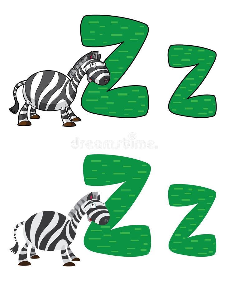 Download Z listowa zebra ilustracja wektor. Obraz złożonej z kreskówka - 26656393