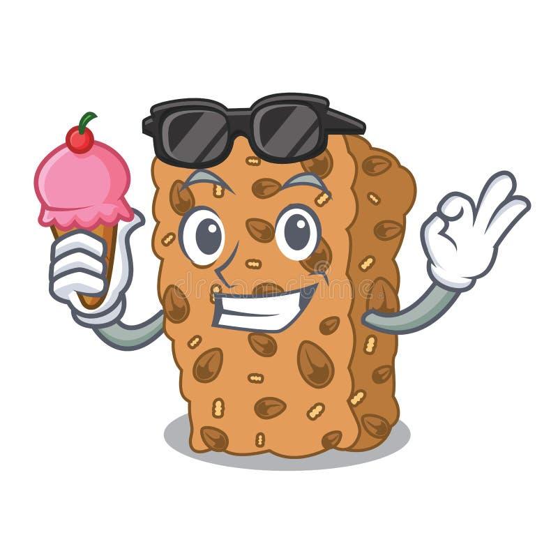 Z lody granola baru charakteru kreskówką ilustracja wektor