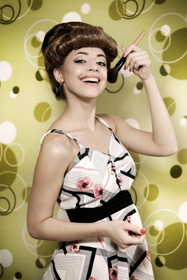 Z makeup muśnięciem piękna dziewczyna obrazy royalty free