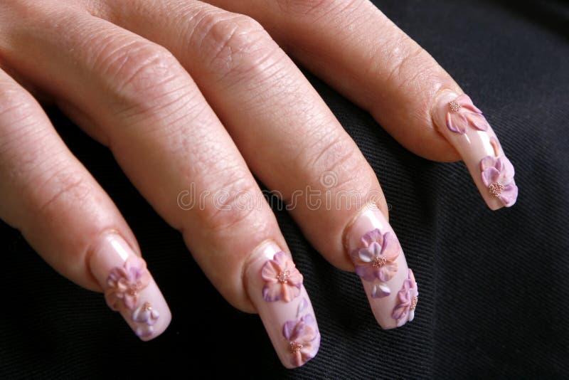 Z manicure'em kobiety piękna ręka obraz stock