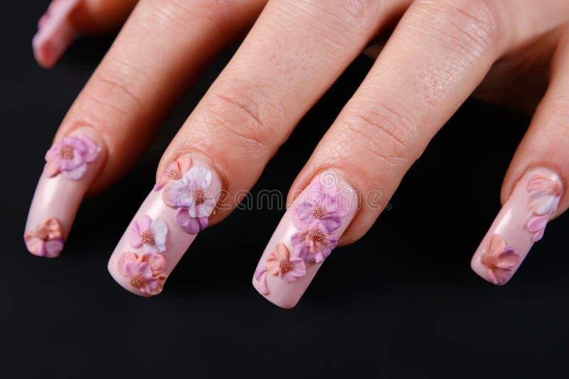 Z manicure'em kobiety ręka fotografia stock