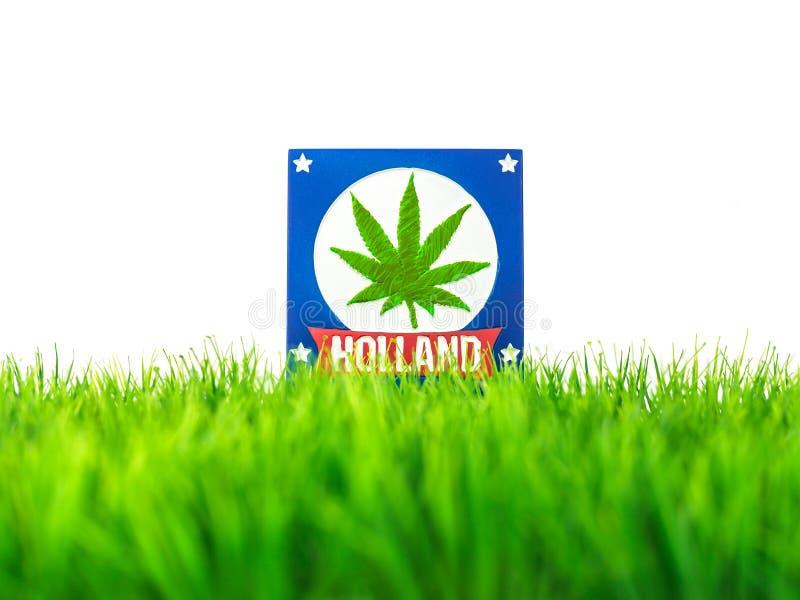 Z marihuana symbolem holenderska pamiątka zdjęcia royalty free