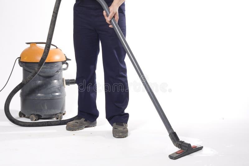 Z maszyną czyścić podłoga zdjęcie stock