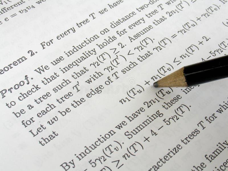 z matematyki obraz stock