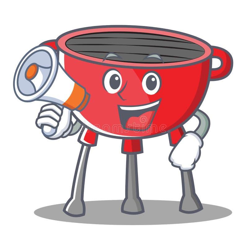 Z megafonu grilla grilla postać z kreskówki royalty ilustracja