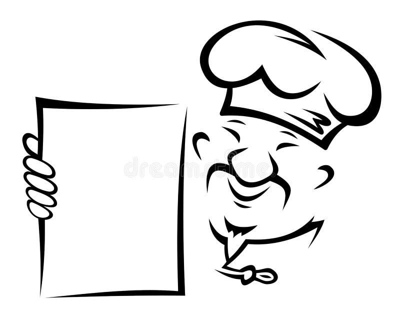 Z menu chiński szef kuchni royalty ilustracja