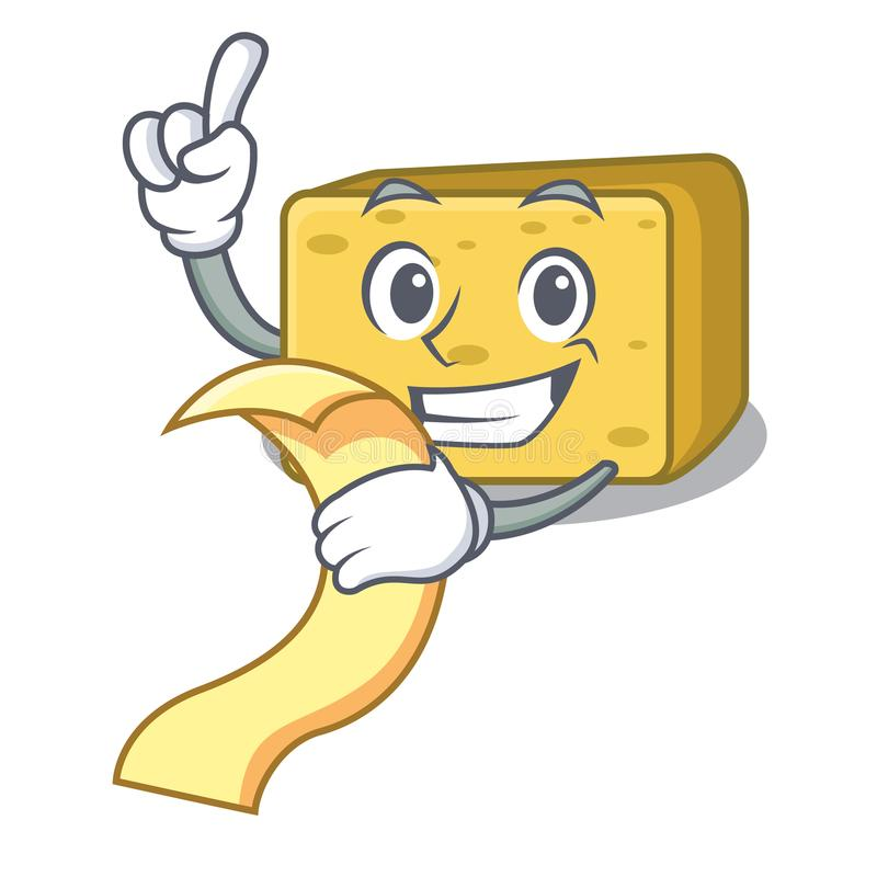 Z menu gouda ser składa kreskówkę royalty ilustracja