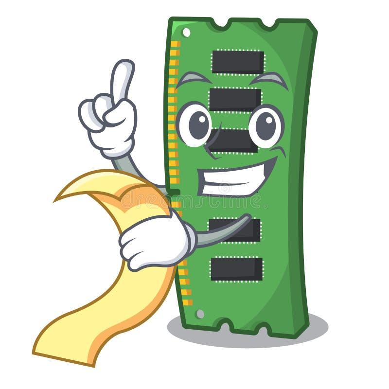 Z menu RAM kart? pami?ci w peceta charakterze ilustracji