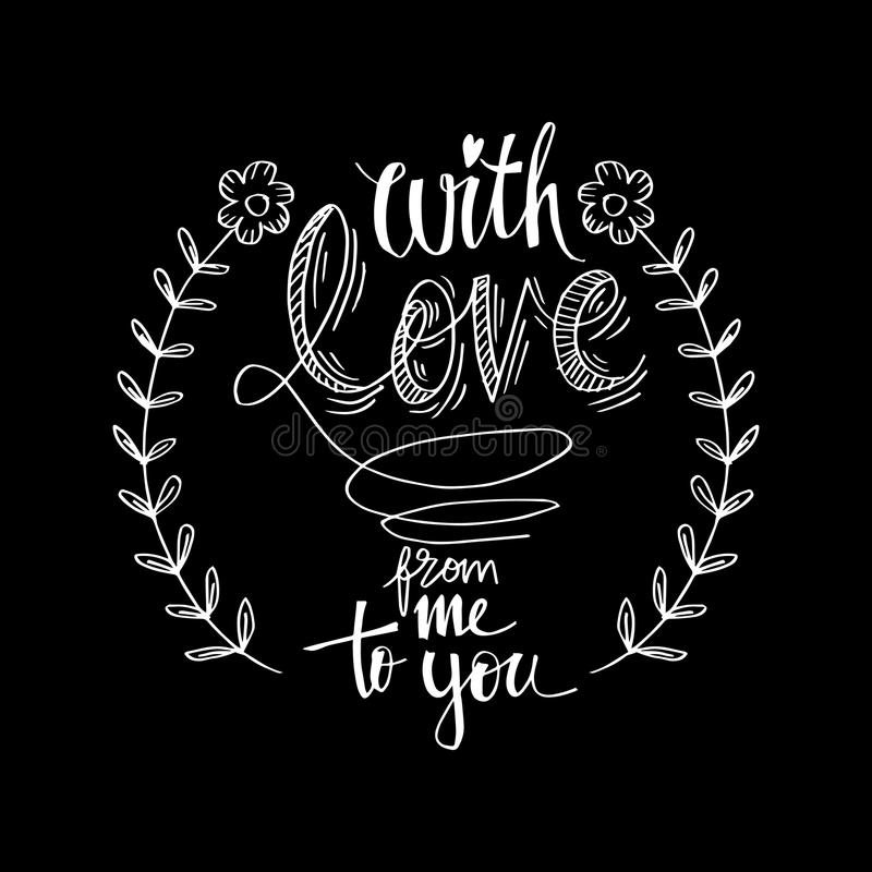 Z miłością od ja ty royalty ilustracja
