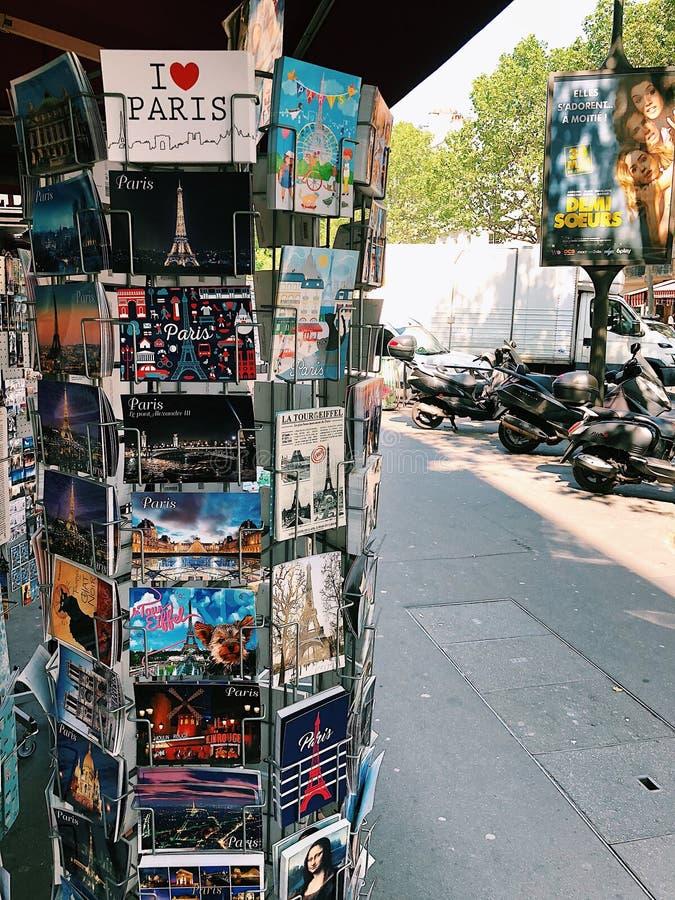 Z miłością od Paryż, pocztówki obrazy royalty free