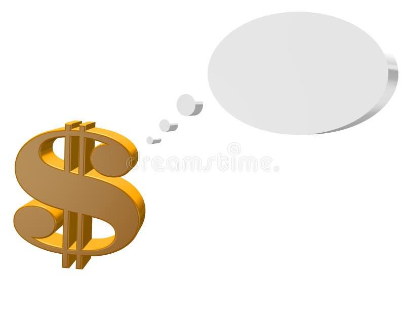 Z Mowa Bąblem dolara Znak ilustracji