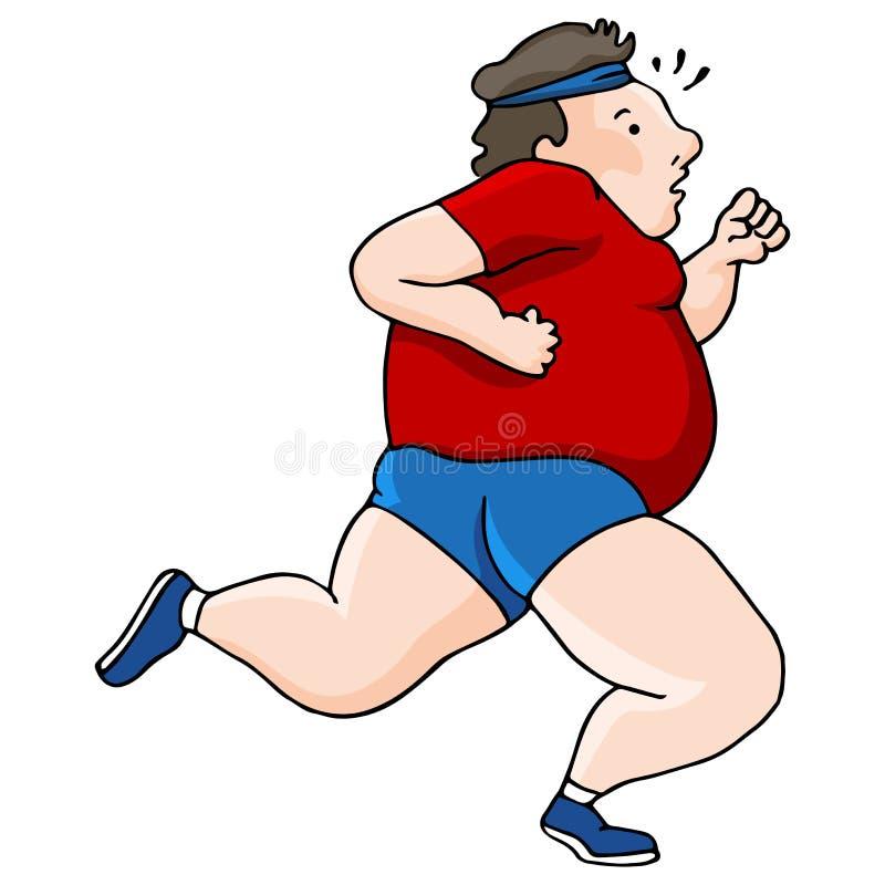 Z nadwagą biegacz royalty ilustracja