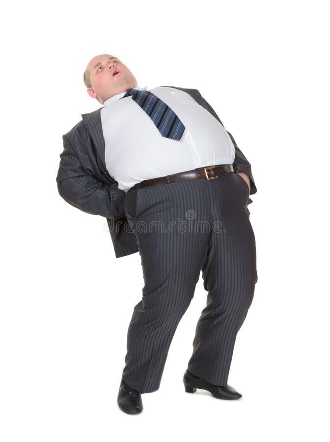 Download Z Nadwagą Mężczyzna Z Bólem Pleców Obraz Stock - Obraz złożonej z zdrowy, sadło: 28961687
