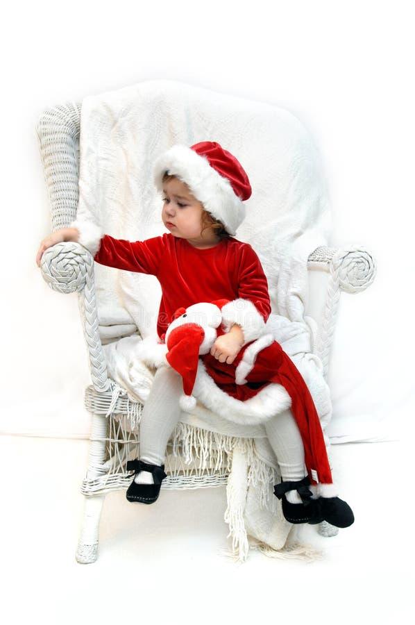Z niepokojem oczekiwać Santa obrazy royalty free