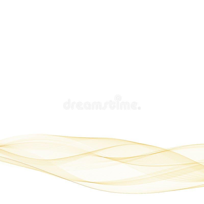 Z?ocista abstrakt fala niebieski obraz nieba t?czow? chmura wektora Szablon dla prezentaci 10 eps ilustracja wektor