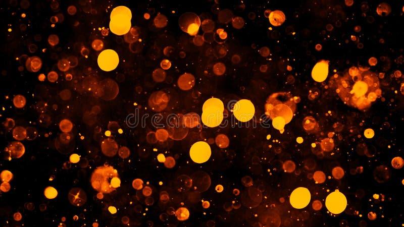 Z?ocisty abstrakcjonistyczny bokeh t?o istne py? cz?steczki z istnymi obiektywu racy gwiazdami b?yskotliwo?? ?wiat?a Abstrakt za? obrazy stock