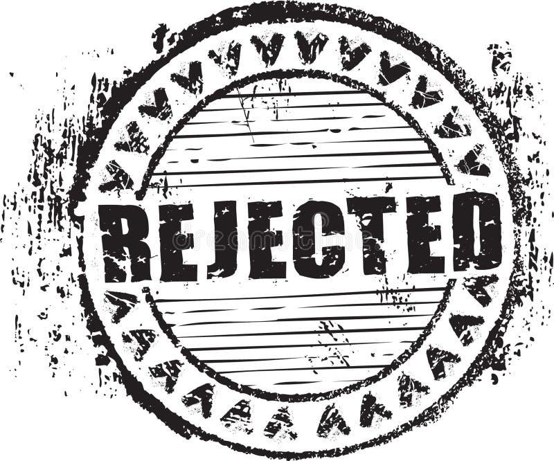 Z odrzucającym słowem pieczątka kształt ilustracja wektor