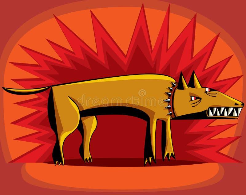 Z ogołacającymi zębami gniewny pies. ilustracja wektor