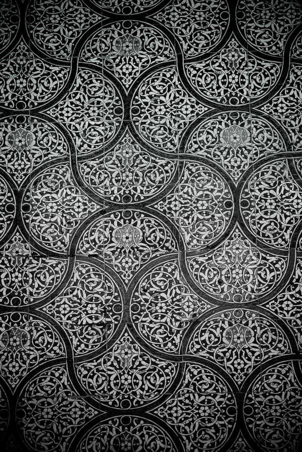 Z orientalnymi ornamentami kafelkowy tło fotografia royalty free