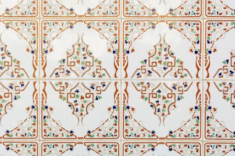 Z orientalnymi ornamentami kafelkowy tło obraz royalty free