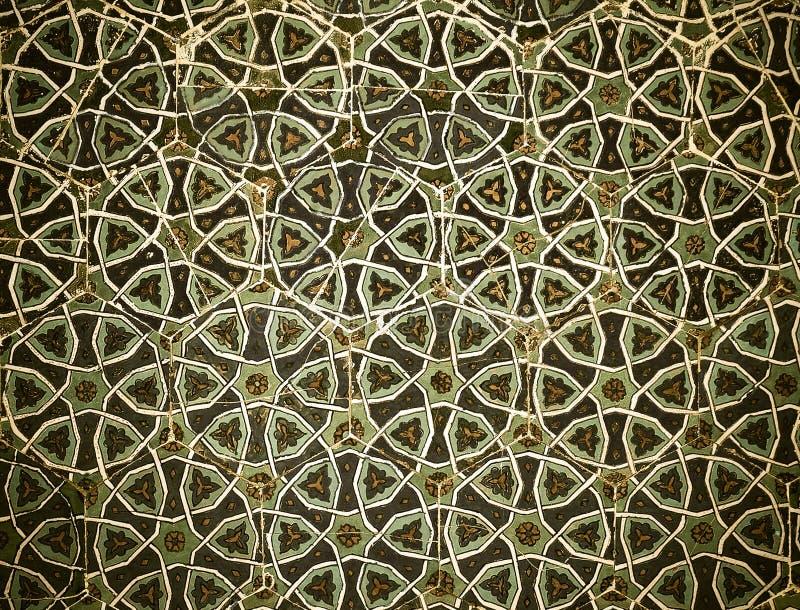 Z orientalnymi ornamentami kafelkowy tło ilustracja wektor