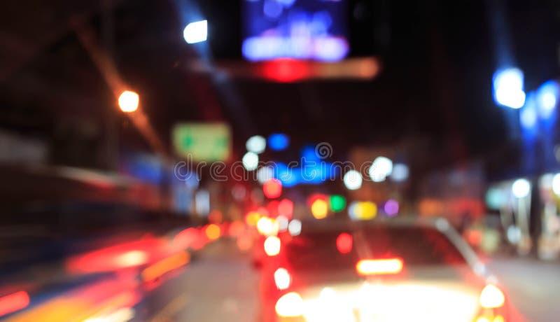 Z ostrości nocy światła obrazy royalty free