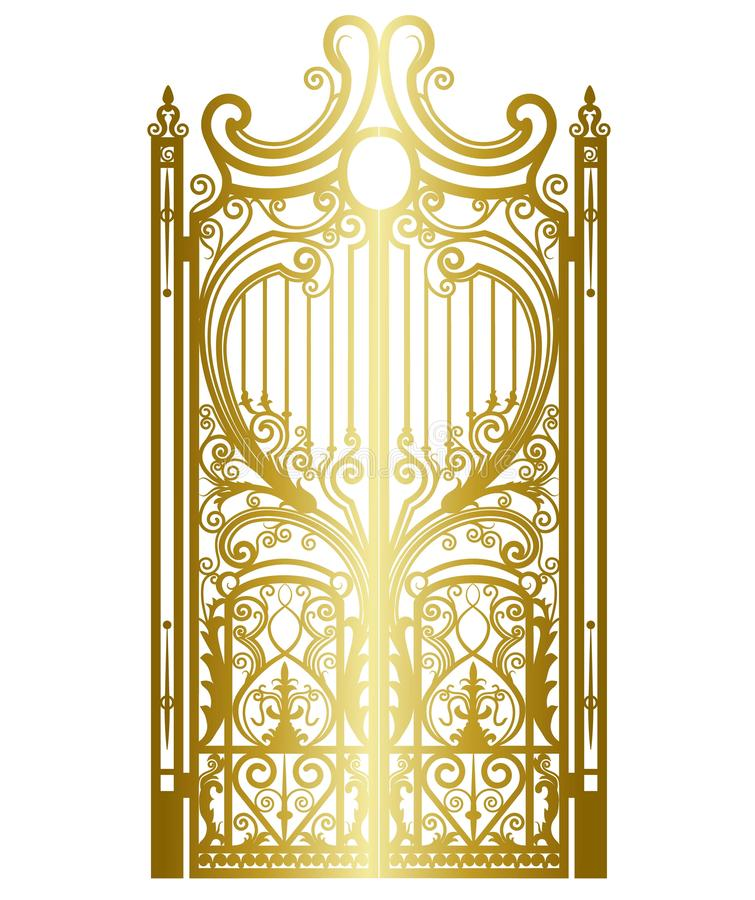 Z?ota rocznik brama royalty ilustracja