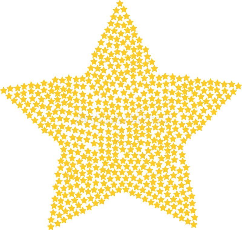 Download Złoto gwiazda ilustracja wektor. Ilustracja złożonej z duży - 57651149