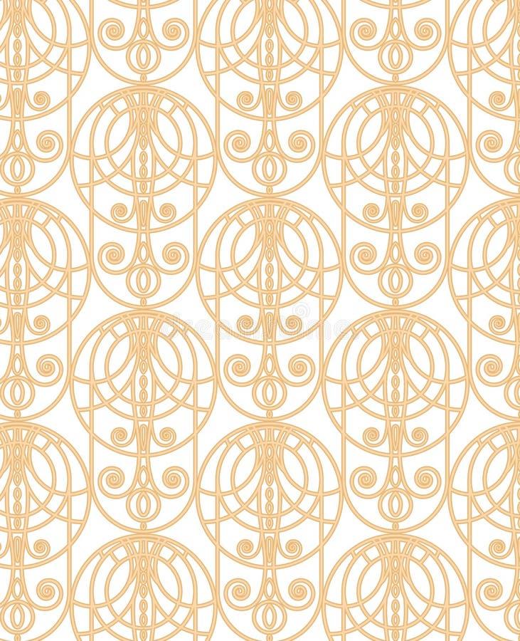 Download Złoto koronka ilustracja wektor. Ilustracja złożonej z powtórka - 28956656