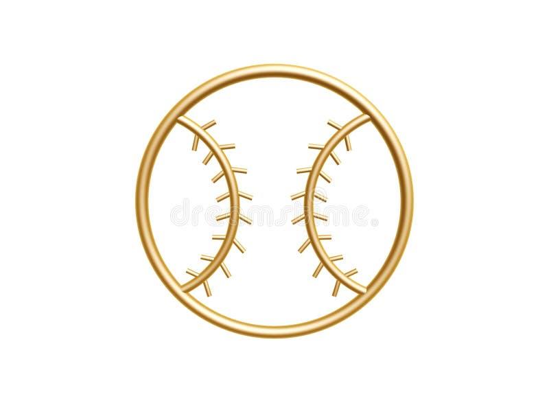 Download Złoty baseballa symbol zdjęcie stock. Obraz złożonej z symbol - 33208774