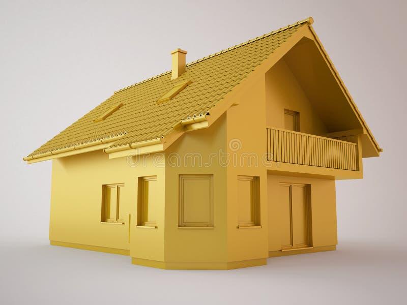 Download Złoty dom ilustracji. Ilustracja złożonej z nakrętka - 13331885