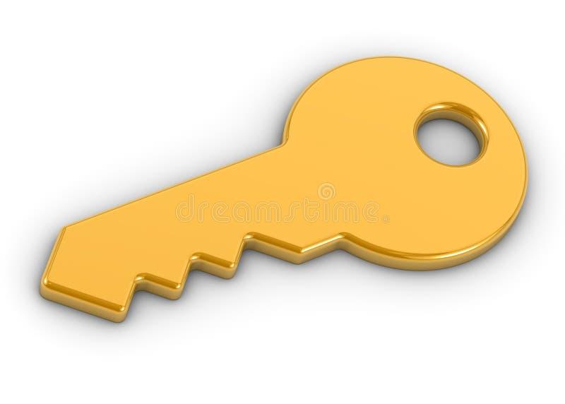 Download Złoty klucz ilustracji. Ilustracja złożonej z dostęp - 13329842