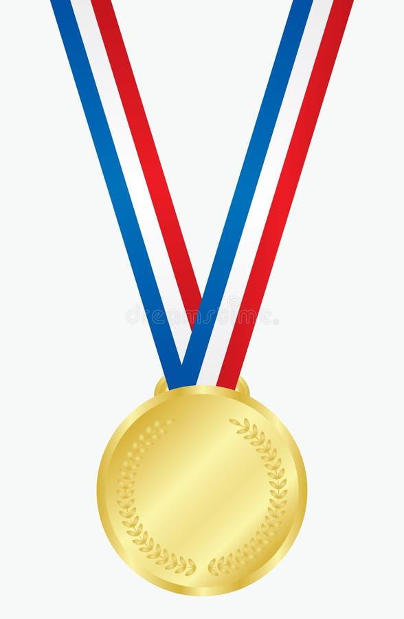 Download Złoty medal ilustracja wektor. Obraz złożonej z złoty - 12636002